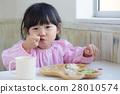 여성, 음식, 아이 28010574