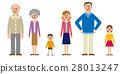 Three generations family vector 28013247