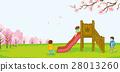 spring, playground, slide 28013260
