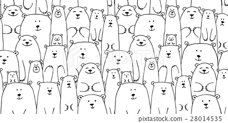 White bears family, seamless pattern for your 28014535