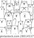 벡터, 동물, 곰 28014537