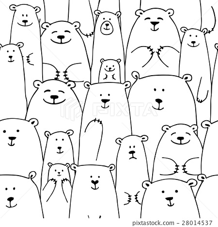 White bears family, seamless pattern for your 28014537