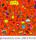 Bowling, seamless pattern for your design 28014558