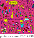 Bowling, seamless pattern for your design 28014599
