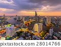 Aerial view of Bangkok modern office buildings 28014766