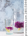 Lilac lemonade water with lemon 28015044