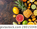 Variety of citrus fruits 28015048