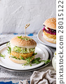 Vegan burgers with avocado, beetroot and sauce 28015122