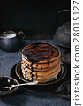 Ombre chocolate pancakes 28015127