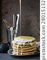 Ombre matcha pancakes 28015132