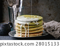 Ombre matcha pancakes 28015133