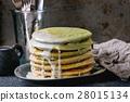Ombre matcha pancakes 28015134