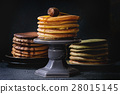 Variety of ombre pancakes 28015145
