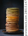 Variety of ombre pancakes 28015147