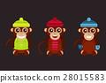 Monkey animal fun character vector illustration. 28015583