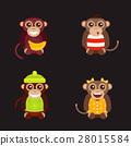 Monkey animal fun character vector illustration. 28015584