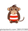 vector, illustration, monkey 28015588