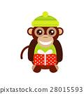 Monkey animal fun character vector illustration. 28015593