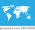 Political vector World Map with state name labels 28015608