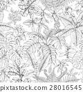 pattern palm monstera 28016545