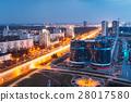 Minsk, Belarus. Aerial Cityscape In Bright Blue 28017580