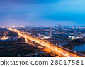 Minsk, Belarus. Aerial View Cityscape In Bright 28017581