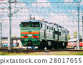 Old Diesel locomotive on Railway In Sunny Summer 28017655