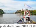 The bridge of the boat on the Vltava river 28017930