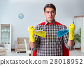 Super hero cleaner working at home 28018952