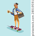 illustration of a cool hipster 28019591