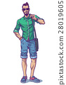 illustration of a fashionable guy 28019605