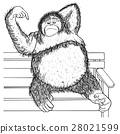 Orangutan Hand drawn sketched vector illustation.  28021599