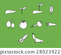 Vector icon set for gardening activities 28023922