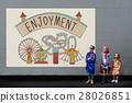 Enjoyment Entertainment Amusement Park Concept 28026851