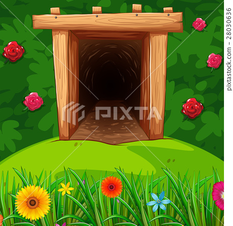 Tunnel in the bush 28030636