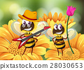 Bee playing guitar on flower 28030653