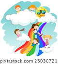Children sliding down the rainbow 28030721