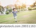 Asian child playing pilot aviator 28031163