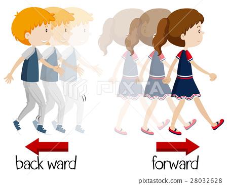 Wordcard for backward and forward 28032628
