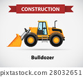 Construction icon with bulldozer 28032651