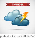 Weather icon for thunder 28032657