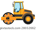Road roller machine on white background 28032662