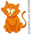Little cat with orange fur 28032680