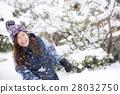 눈과 여성 28032750