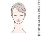 ผู้หญิงผู้หญิงที่หลับตา 28033764