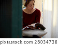 A woman reading 28034738