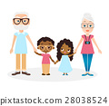 Grandparents with grandson and granddaughter. 28038524