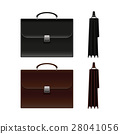 Black and Brown Business Briefcase Bag. 28041056