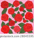 Rose Background, valentine`s Card design 28045595