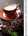 Coffee cup and beans 28048156